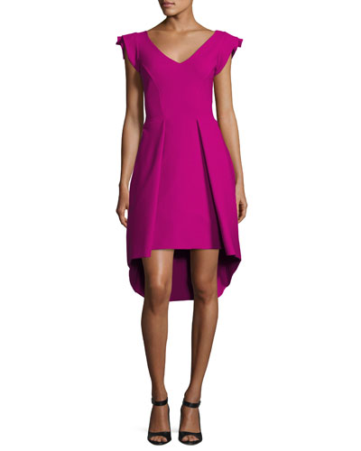 Lione Pleated Jersey Cocktail Dress