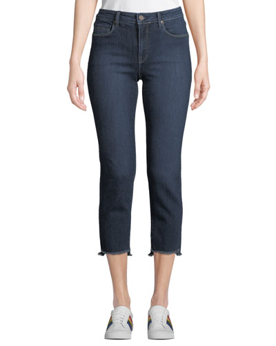 Shark Bite Straight-Leg Jeans, Medium Blue