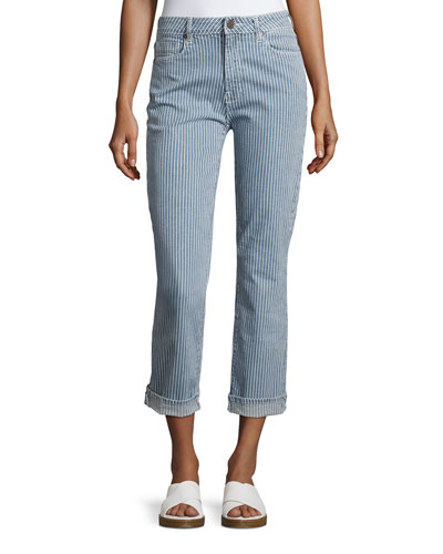 Pin Up Straight-Leg Jeans