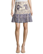 Tegan Floral Fit-&-Flare Skirt