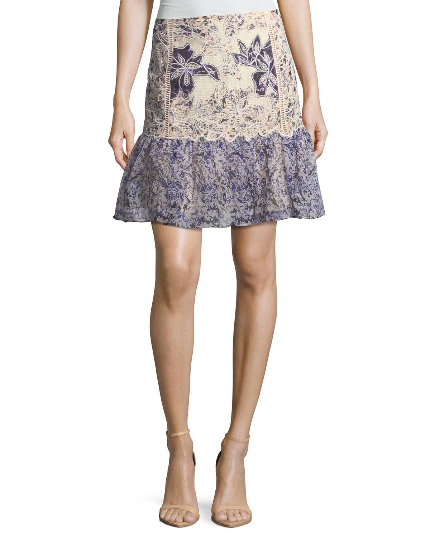 Tegan Floral Fit-&-Flare Skirt