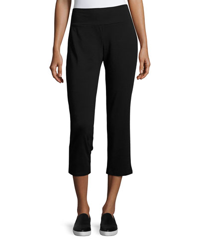 Organic Cotton Stretch-Jersey Cropped Pants