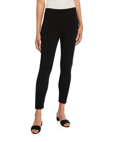 Jersey Ankle Leggings, Black