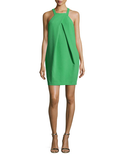 Felisha Sleeveless Crepe Mini Dress, Mojito