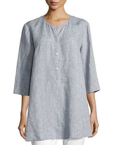Yarn Dyed Handkerchief Tunic, Chambray