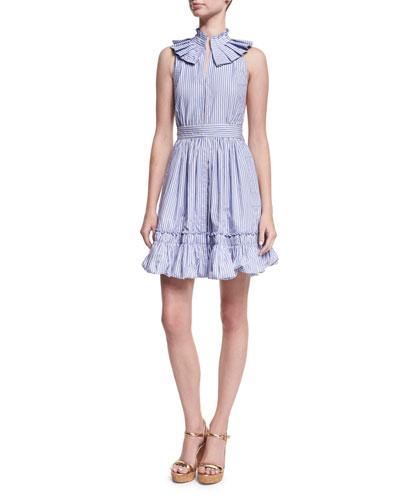 Briley Striped Poplin Mini Dress