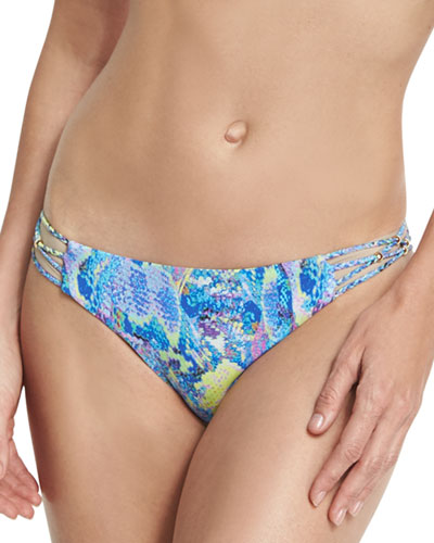 Braided Full Swim Bottom, Blue