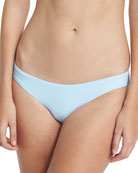 Solid Ruched Swim Bottom, Blue