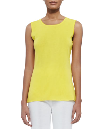 Sleeveless Long Tank, Yellow