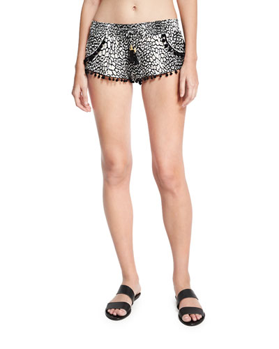 Pom-Pom Coverup Swim Shorts