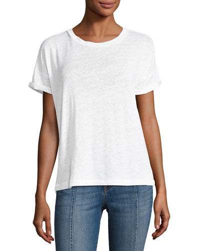 Signet Short-Sleeve Cotton Tee, White