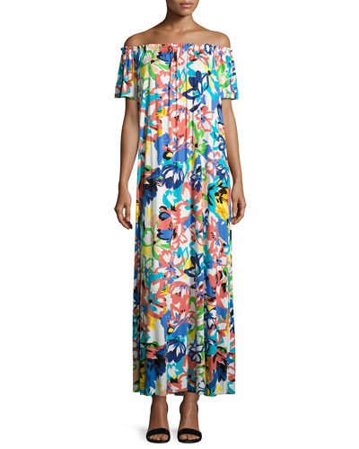 Ossi Printed Off-the-Shoulder Maxi Dress