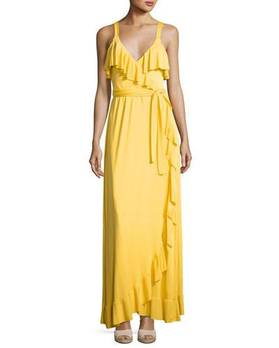 Ruffle Drama Maxi Dress, Plus Size