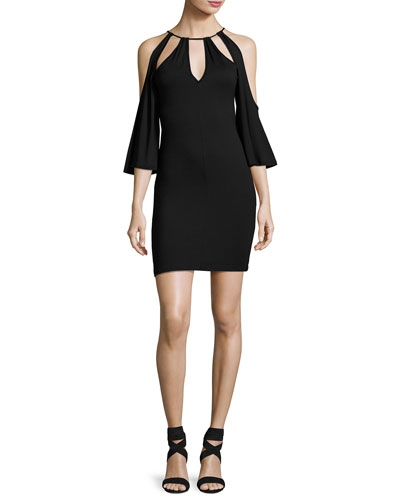 Mandana-Cut Jersey Dress, Black, Plus Size
