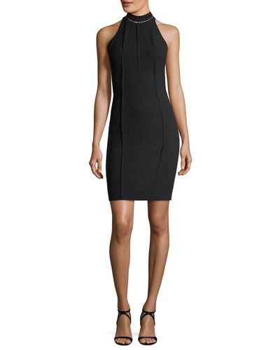 Viola High-Neck Mini Dress