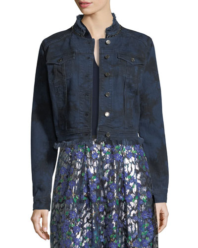 Esperanza Lace-Back Denim Jacket
