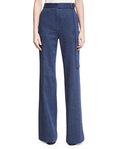 High-Waist Flare-Leg Jeans