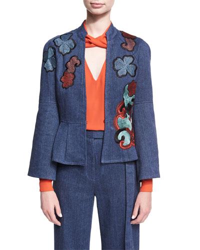 Embroidered Denim Twill Jacket