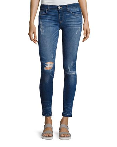Krista Ankle Super Skinny Jeans, Indigo