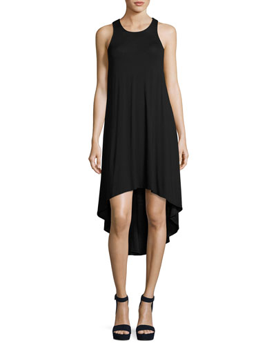 Liquid by Luxe High-Low Coverup Dress, Black