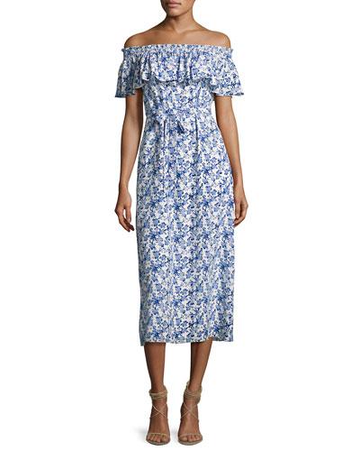 Aimee Off-the-Shoulder Midi Dress
