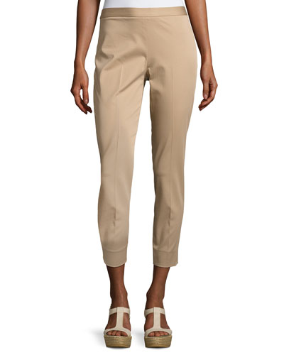 Sestriere Tapered Wide-Cuff Pants, Beige