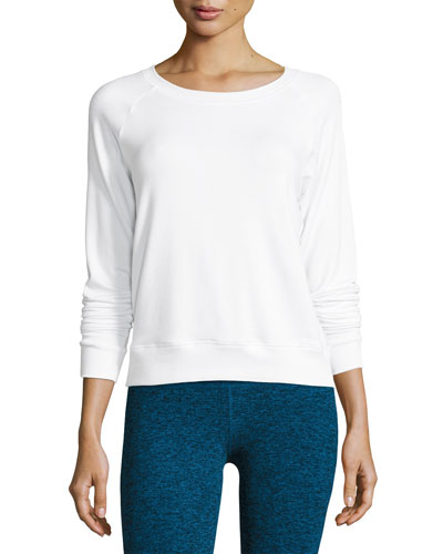 Seam You Later Pullover Sweatshirt, White