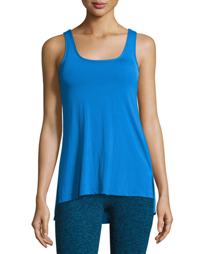 Cross The Line Athletic Tank Top, Blue