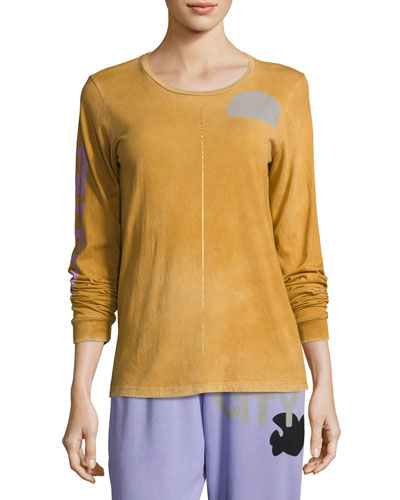 Sign Goldenline Long-Sleeve Pullover Tee, Orange