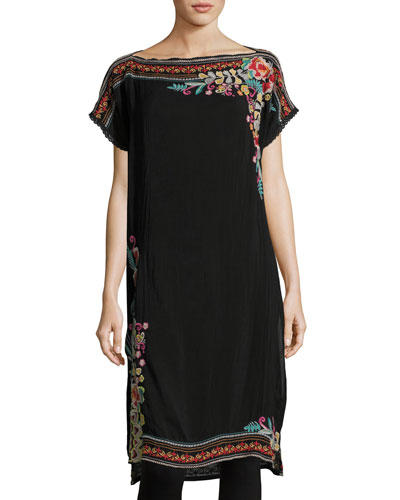 Janice Embroidered Long Tunic