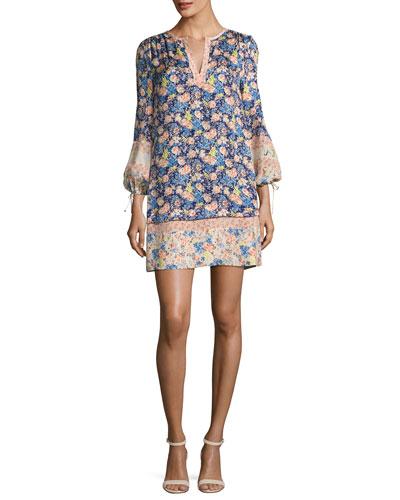 Gigi Floral-Printed Shift Dress