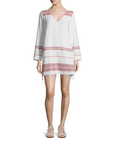 Daralina Embroidered Cotton Tunic/Dress, White