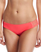 Jaydah Strappy Braided Swim Bottom, Orange