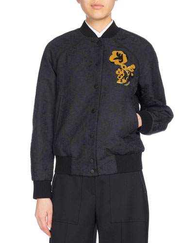 Teddy Blouson Bomber Jacket, Navy