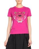 Tiger Classic Pullover T-Shirt, Fuchsia