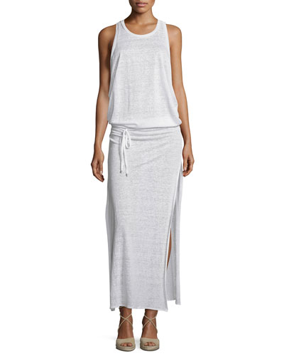 Island Maxi Coverup Dress, White