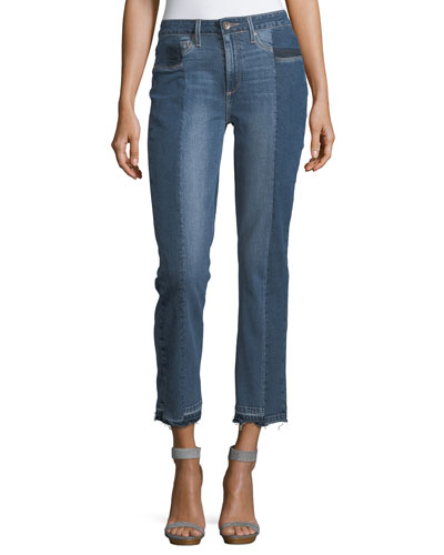 Taylor High-Rise Straight-Leg Denim Jeans