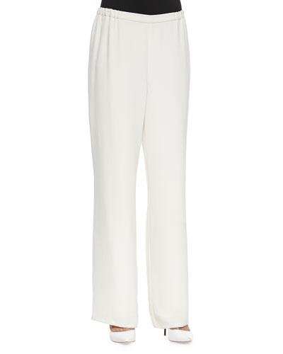 Full-Leg Pull-On Pants, Plus Size