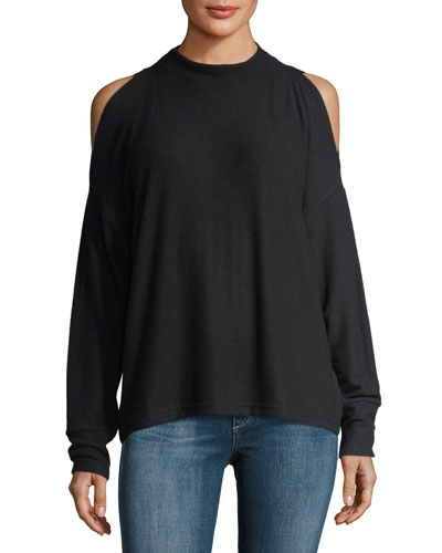 Carbon Revive Cold-Shoulder Long-Sleeve Sweatshirt
