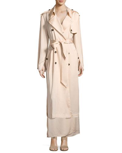 Aaron Oversized Trench Coat, Blush