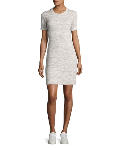 Cherry B3 Stirling Rib-Knit Shirt Dress, Gray