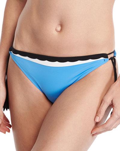 Three Of A Kind Tassel-Tie Swim Bottom, Blue