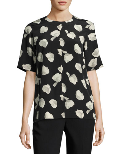 Edgara Harper Print Top, White