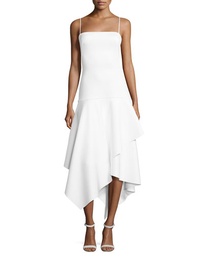 Reynolds Sleeveless Tiered Midi Dress, Whip Cream