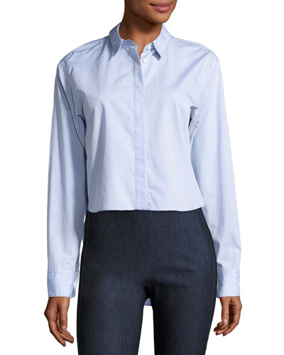 Calder Reversible Long-Sleeve Button-Down Shirt, Blue