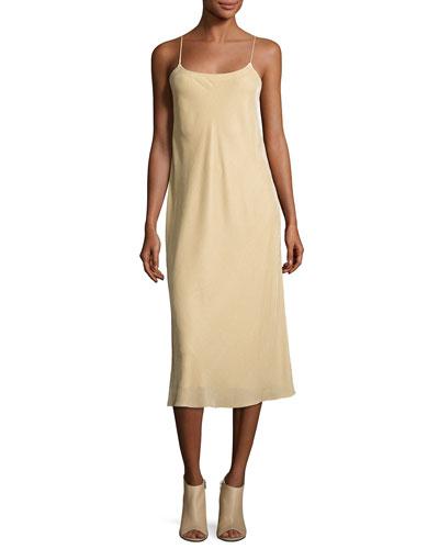 Velvet Camisole Slip Dress, Dill