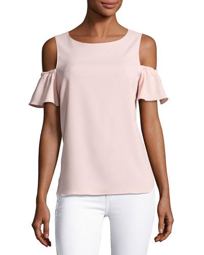 Dryden Cold-Shoulder Capri Top, Pink