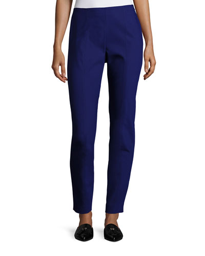 Scuba Bi-Stretch Cropped Legging, Cobalt