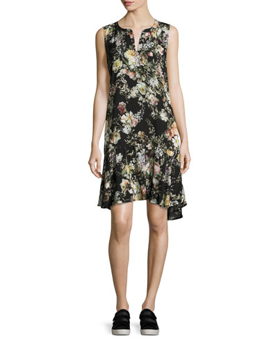 Nerissa Floral-Print Dress, Multi