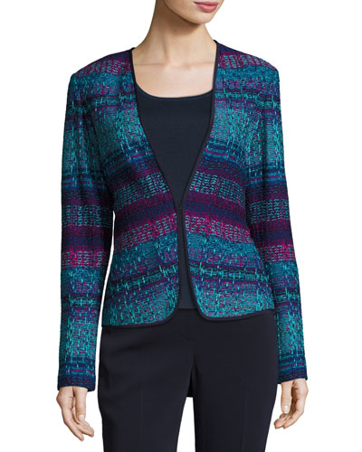 New Ellah Knit Collarless Jacket